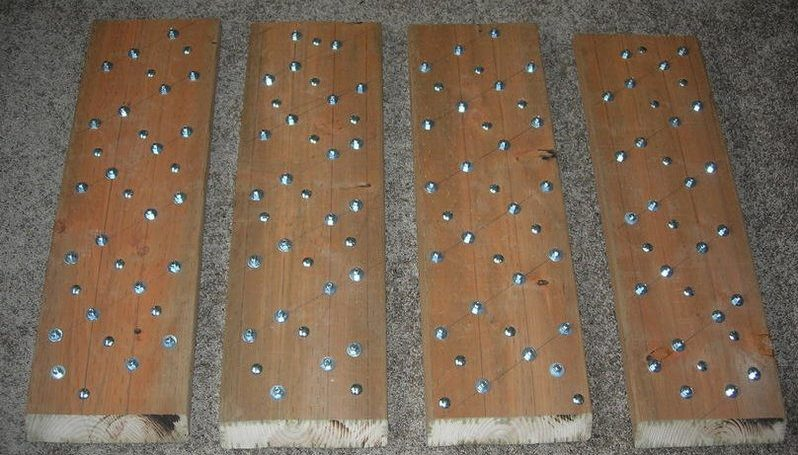 Homemade Tire Traction Mats-