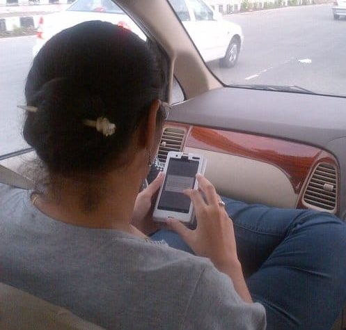 Person on cell phone