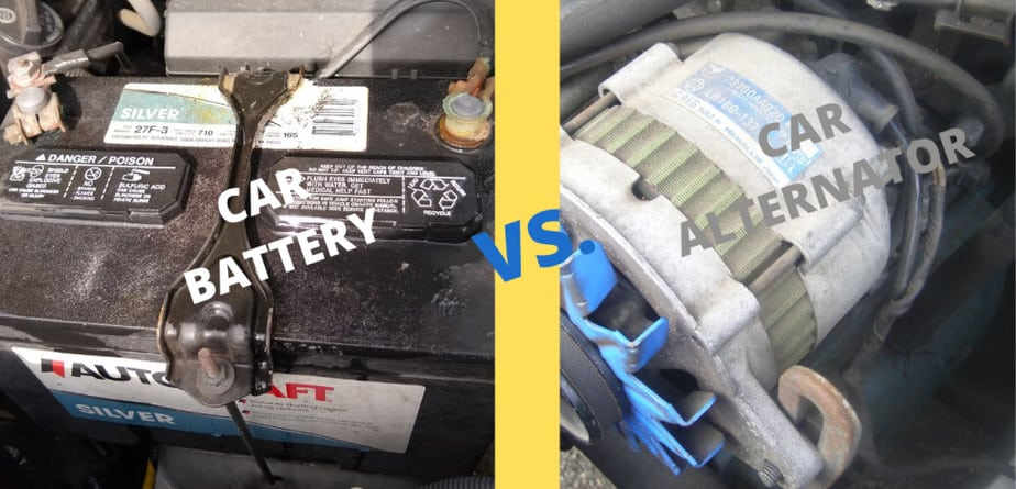 Car Battery versus Car Alternator